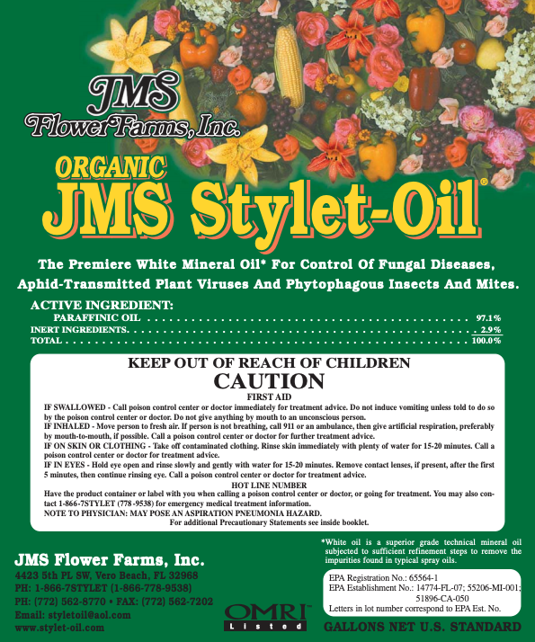 Organic JMS Stylet-Oil Label