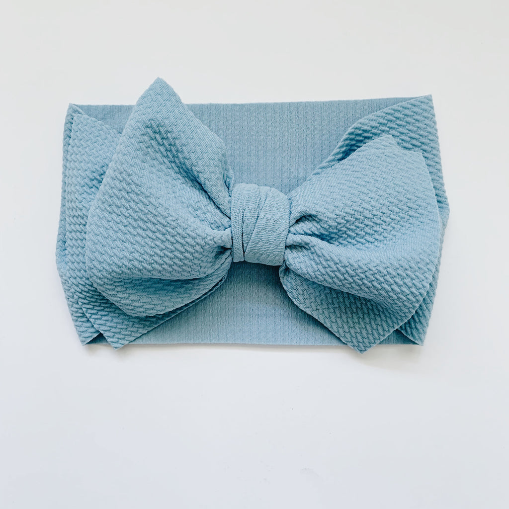 Baby Headwrap - Light Blue