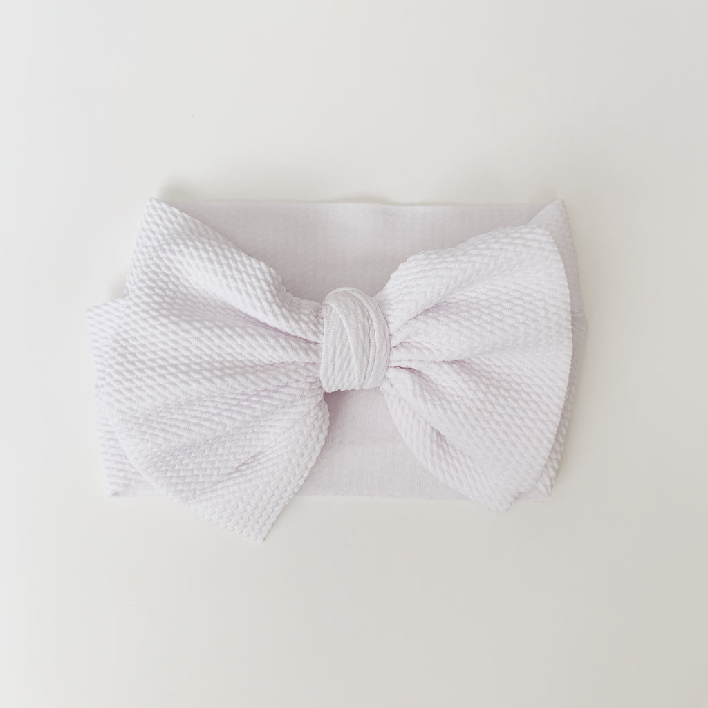 Baby Headwrap - White