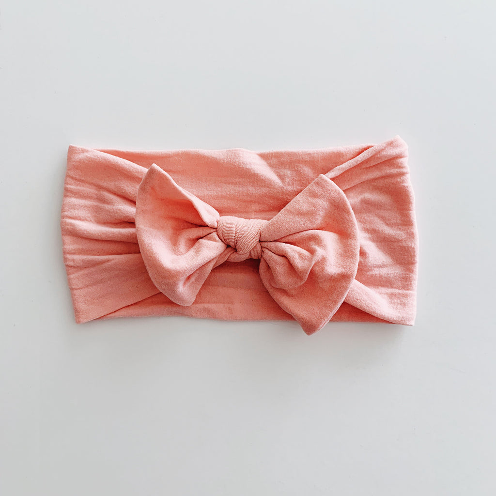 Baby Classic Bow Headband - Coral
