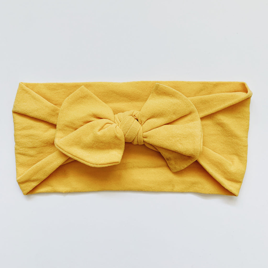 Baby Classic Bow Headband - Ginger