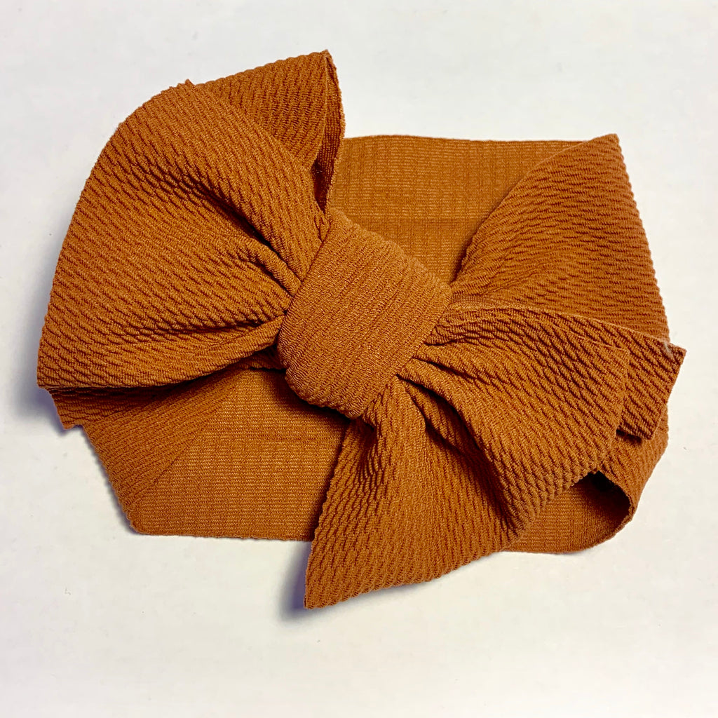 Baby Headwrap - Brown