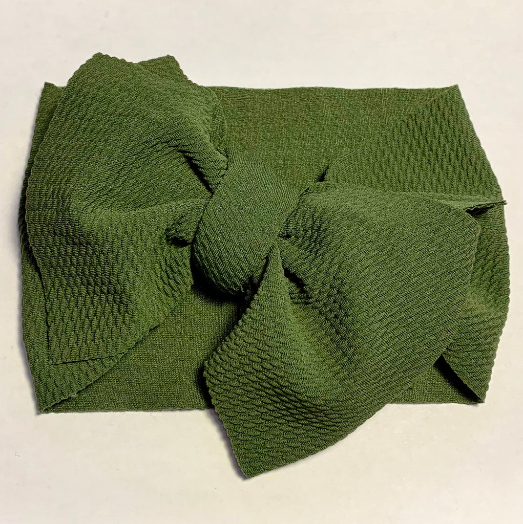 Baby Headwrap - Moss Green