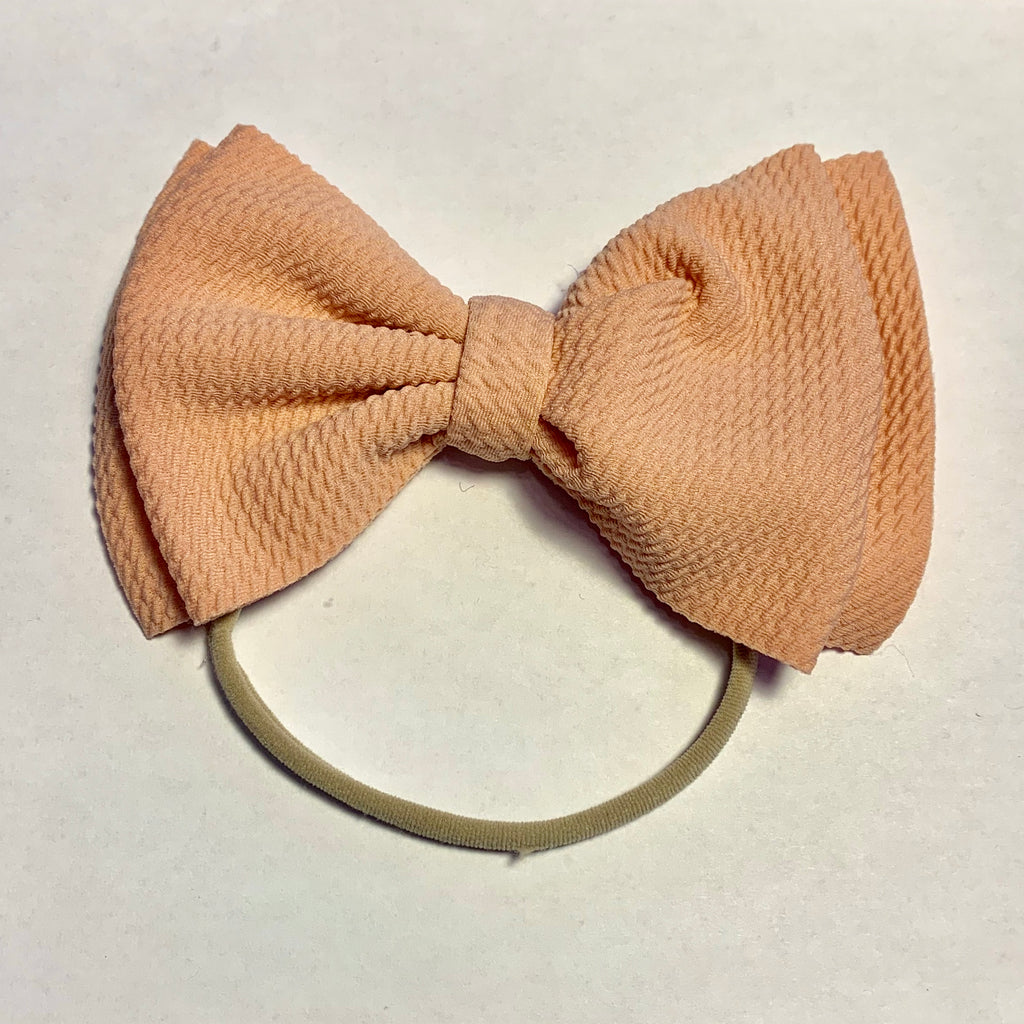 Baby Skinny with Big Bow - Blush
