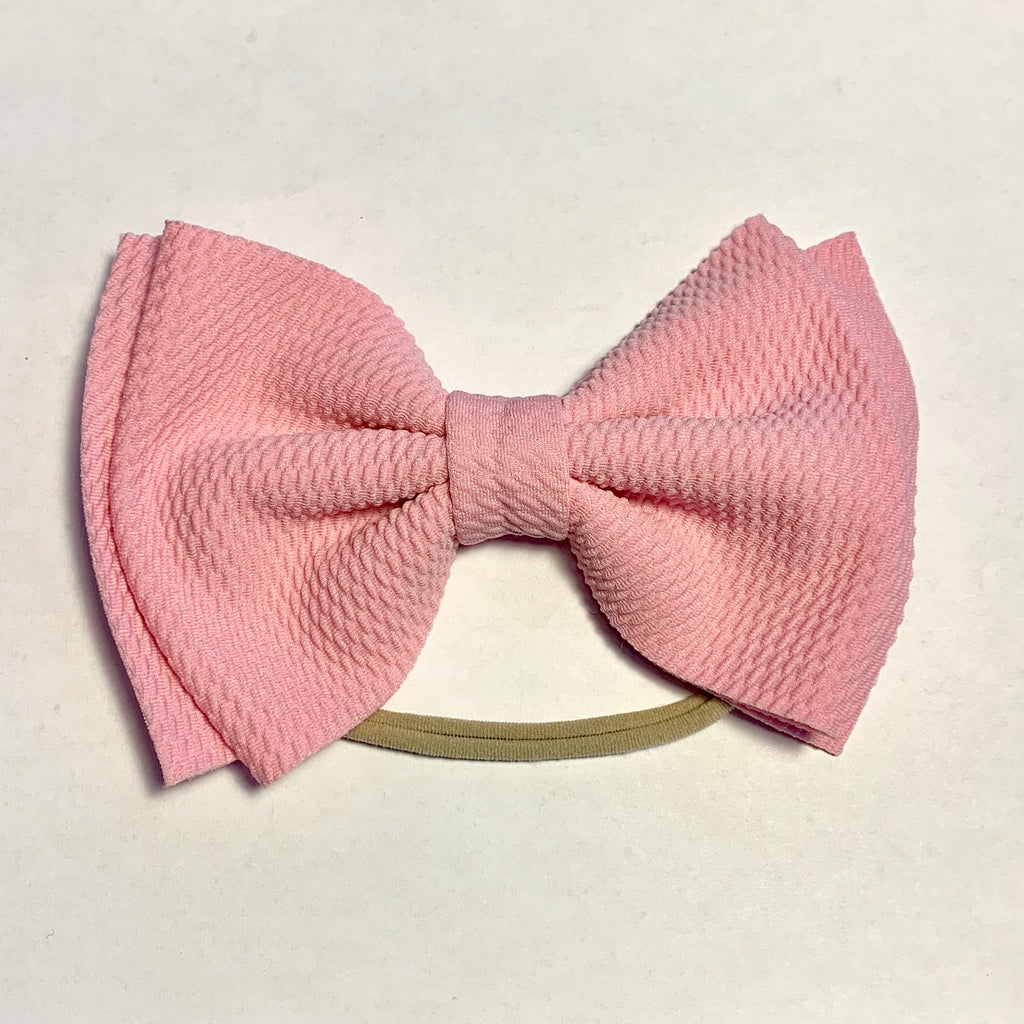 Baby Skinny with Big Bow - Pink