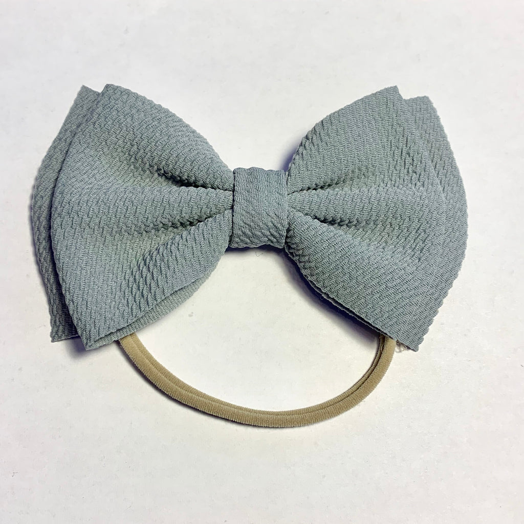 Baby Skinny with Big Bow - Silver