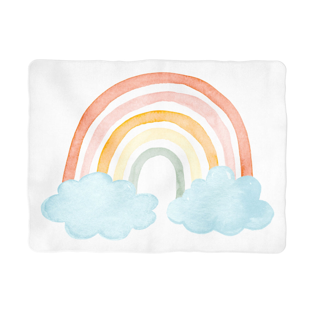 Colorful Rainbow Milestone Background Blanket