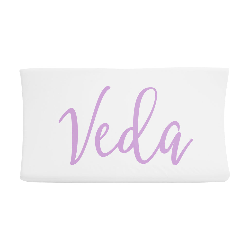 Changing Pad Cover - Centered Name