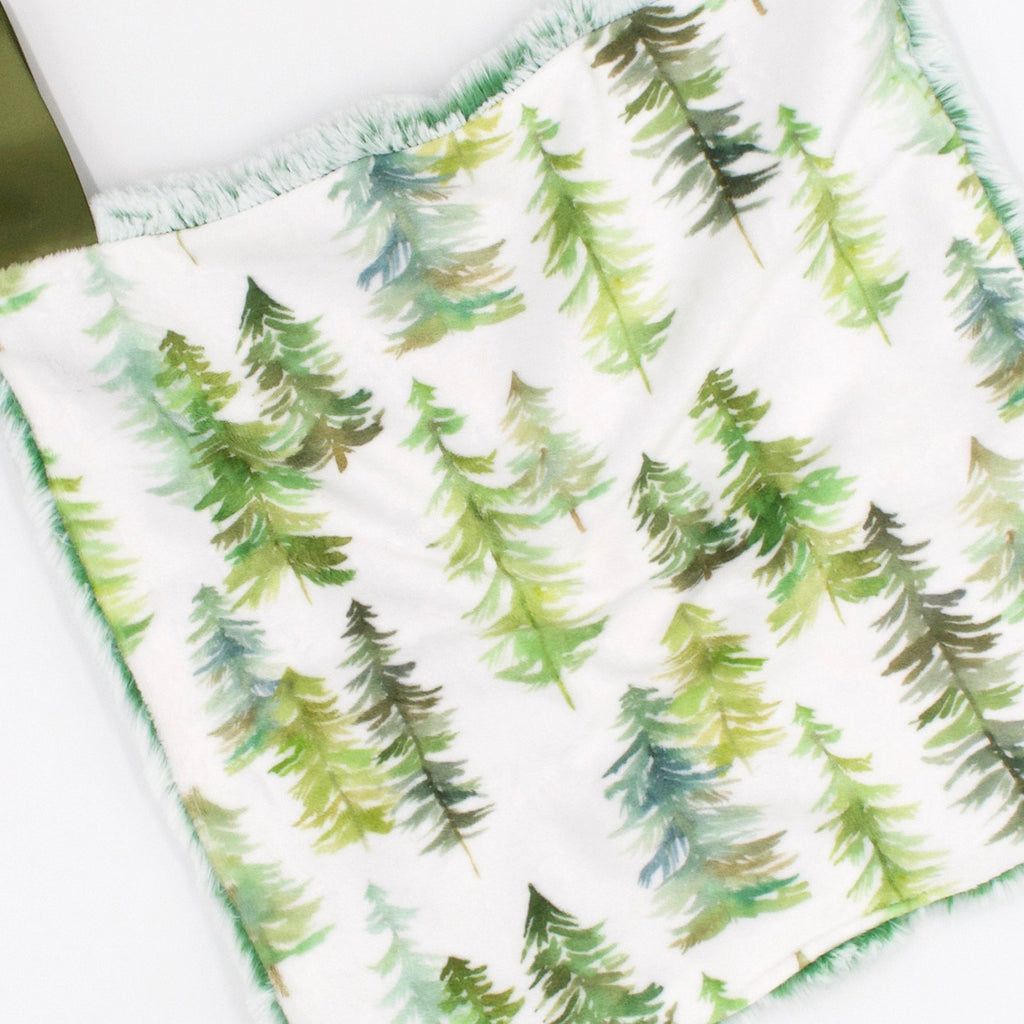 Pine Tree Minky Lovey