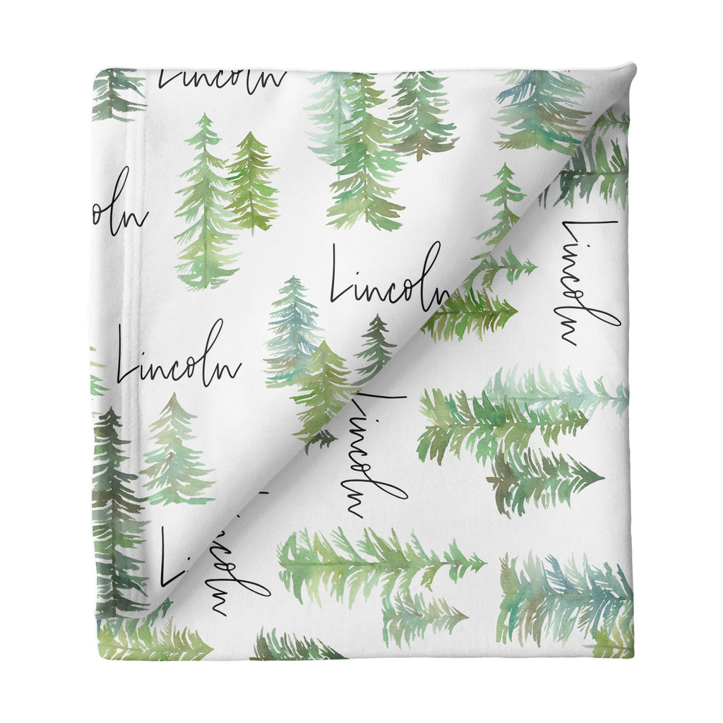 Large Stretchy Blanket - Pine Tree