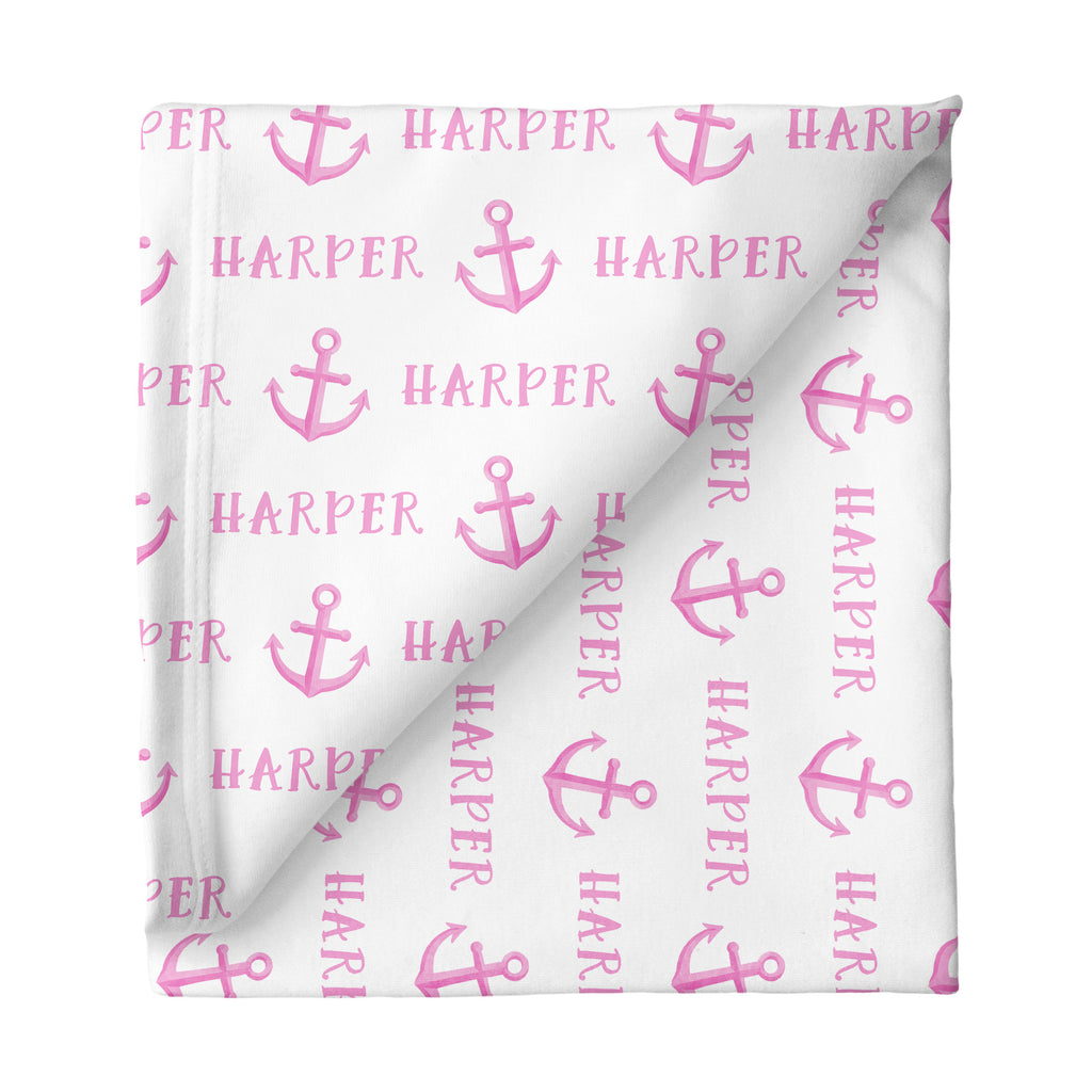 Large Stretchy Blanket - Anchor Pink