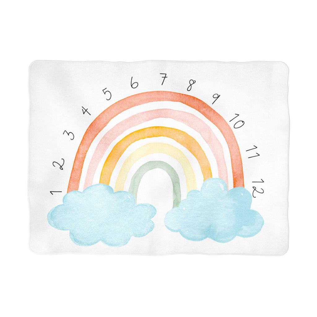 Colorful Rainbow Arch Milestone Blanket - Non-Personalized