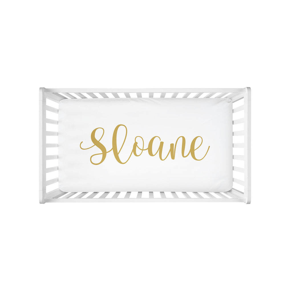 Personalized Crib Sheet - Centered Name