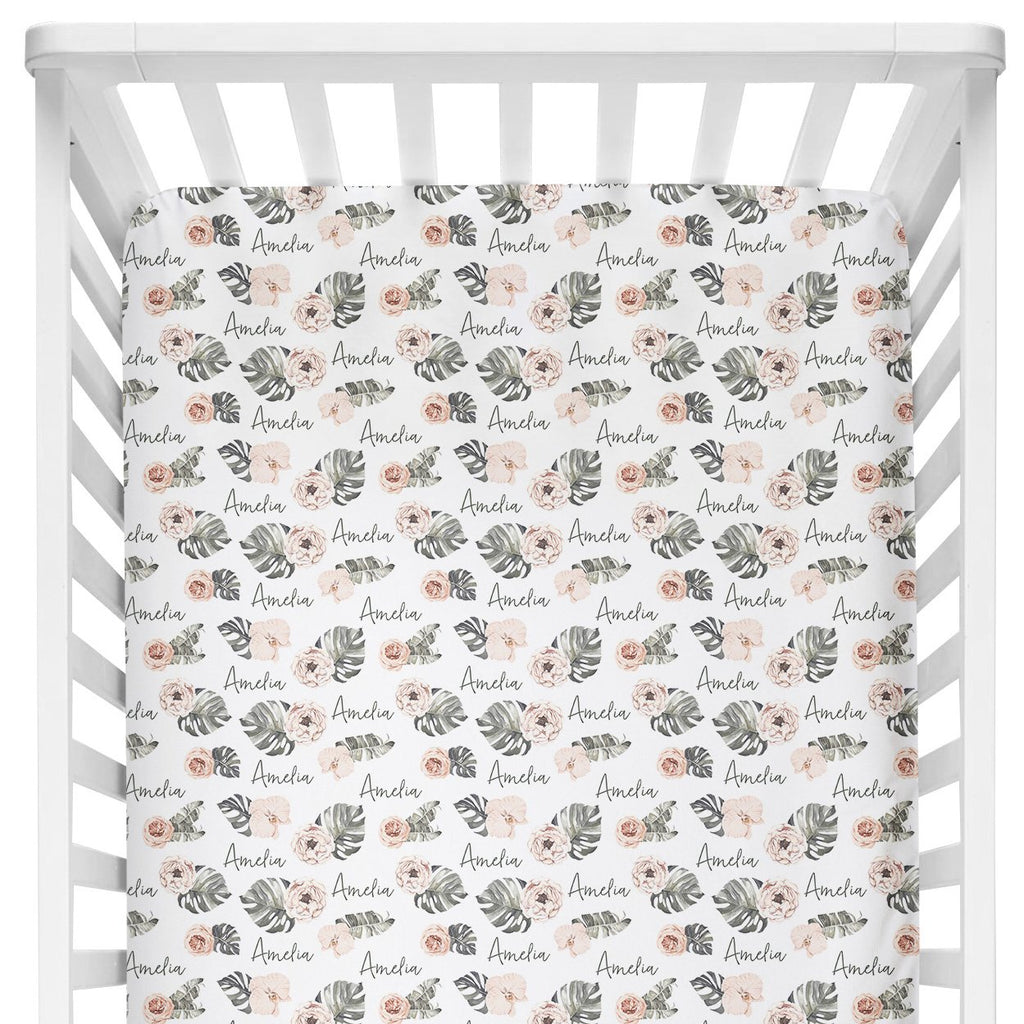 Crib Sheet - Tropical Floral
