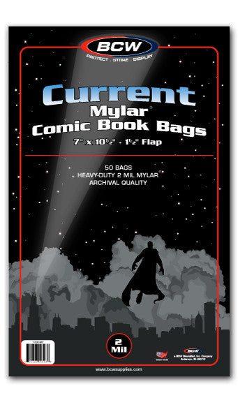 Current Comic Mylar Bags 2 Mil