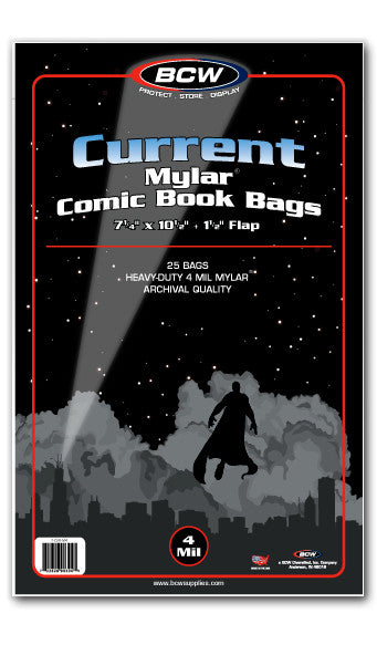 Current Comic Mylar Bags 4 Mil