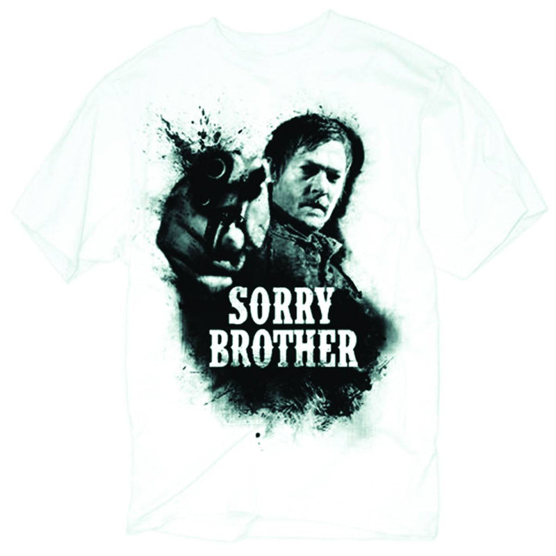 "THE WALKING DEAD: ""SORRY, BROTHER"" WHITE T-SHIRT"