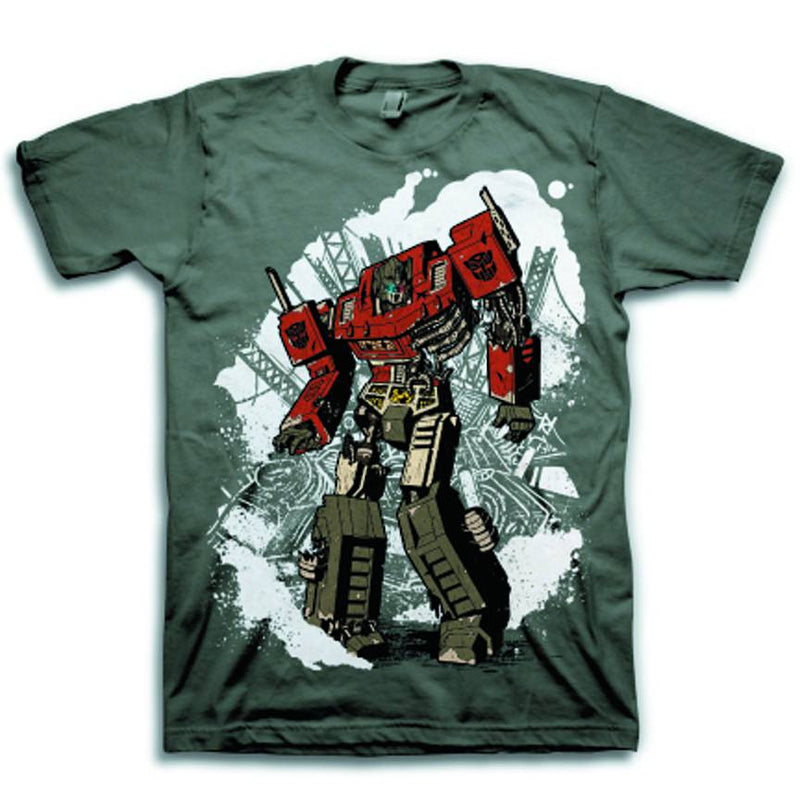 "TRANSFORMERS: ""ZOMBIE OPTIMUS PRIME"" GRAY T-SHIRT"