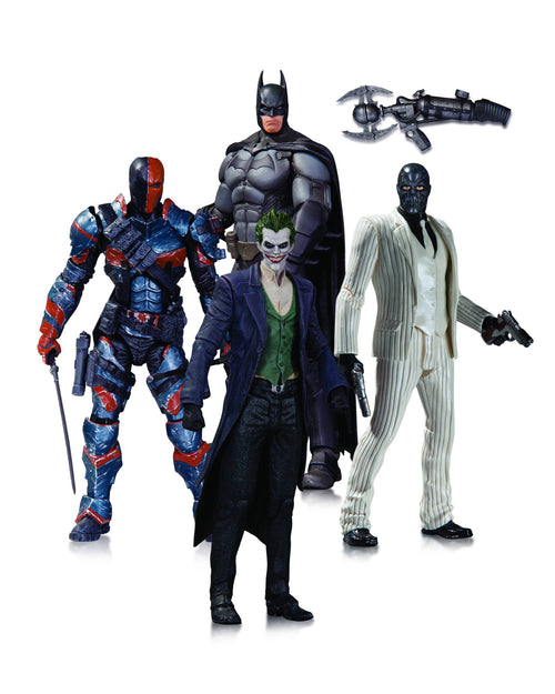 BATMAN: ARKHAM ORIGINS BATMAN, DEATHSTROKE, BLACK MASK AND THE JOKER ACTION FIGURE 4-PACK