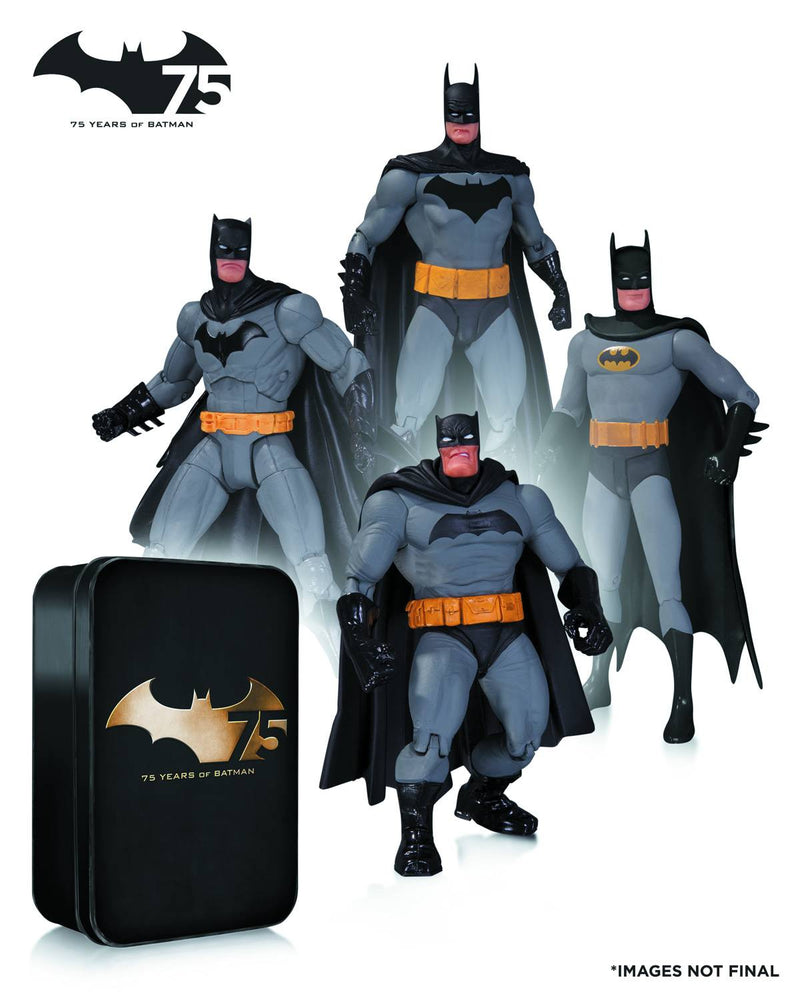 BATMAN 75TH ANNIVERSARY ACTION FIGURE 4-PACK SET 2