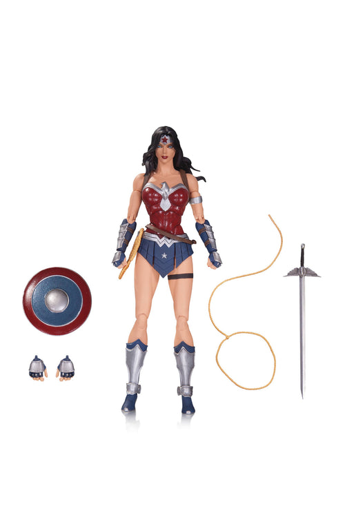 DC COMICS ICONS CYBORG, DEATHSTROKE, SWAMP THING AND WONDER WOMAN ACTION FIGURES