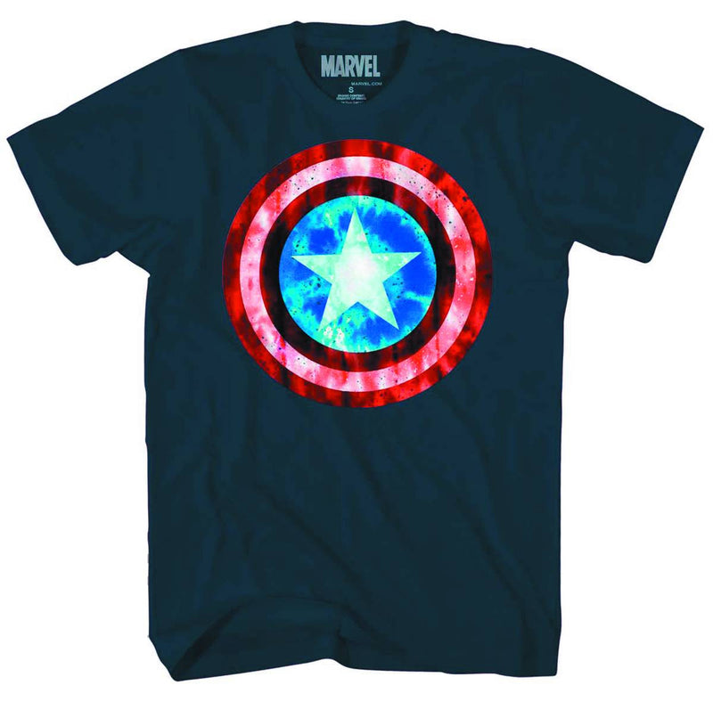 "CAPTAIN AMERICA: ""GRIT DEFENSE"" NAVY T-SHIRT"