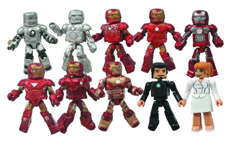 MARVEL MINIMATES: IRON MAN 3 HALL OF ARMOR BOX SET