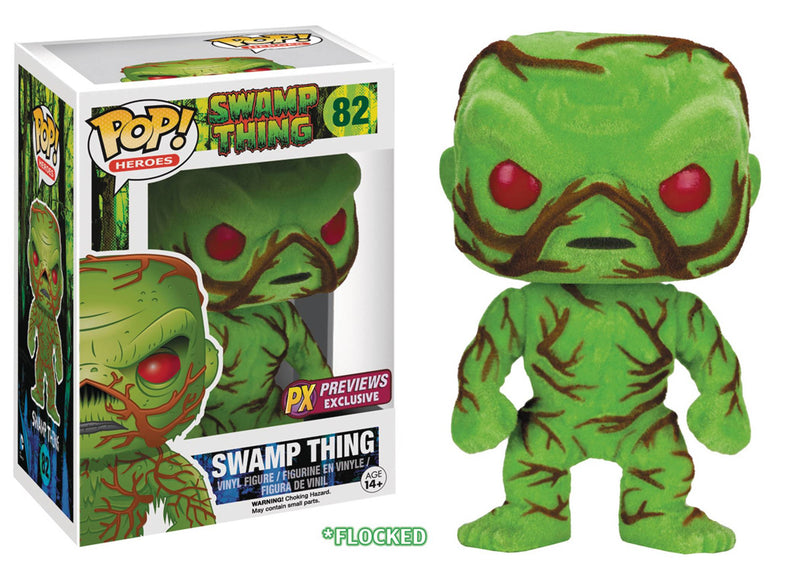 POP DC HEROES SWAMP THING FLOCKED PX VINYL FIG