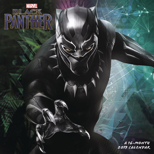 BLACK PANTHER MOVIE 2019 WALL CALENDAR