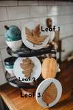 Fall Tier Tray Signs