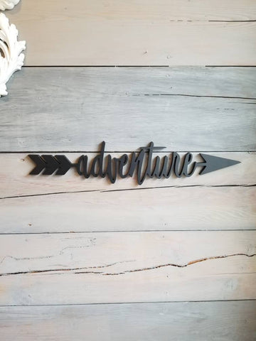 Adventure Arrow Sign