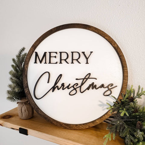 Wood Christmas Door Sign