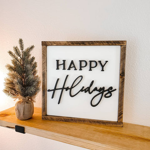 happy holiday sign