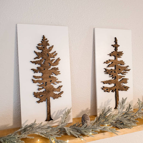 rustic tree decor