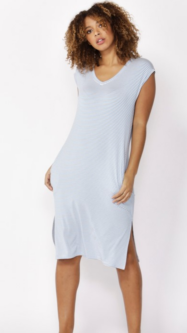 CLAIRE MIDI DRESS SKY BLUE