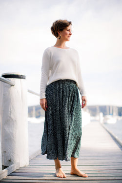 Black & White Soft Pleat skirt