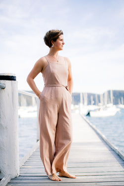 Olivia Jumpsuit in Blush