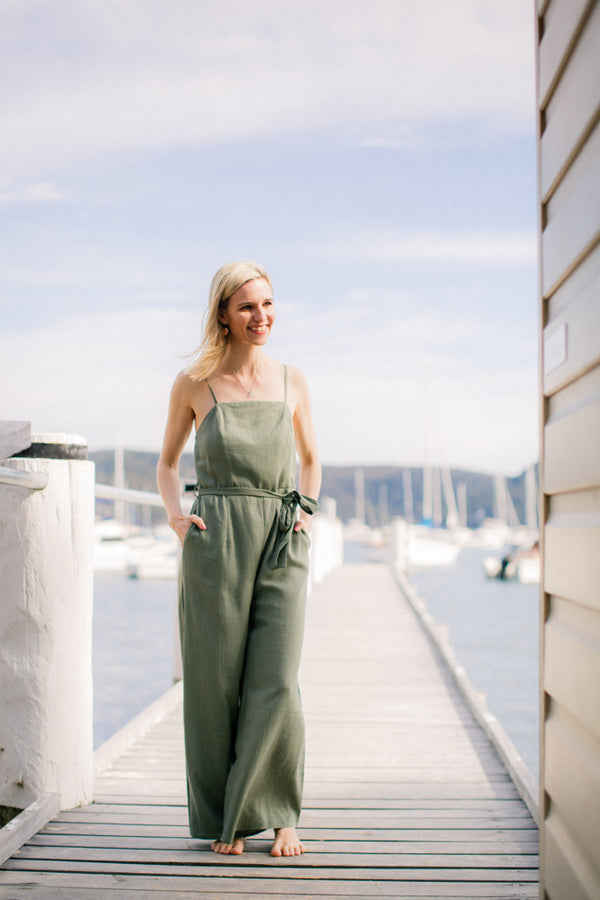 Olivia Jumpsuit in Jade