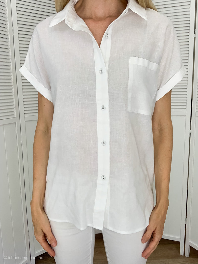 Classic White Shirt - short sleeved