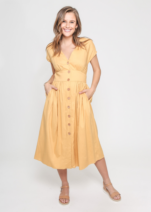 Molly Dress in Yellow