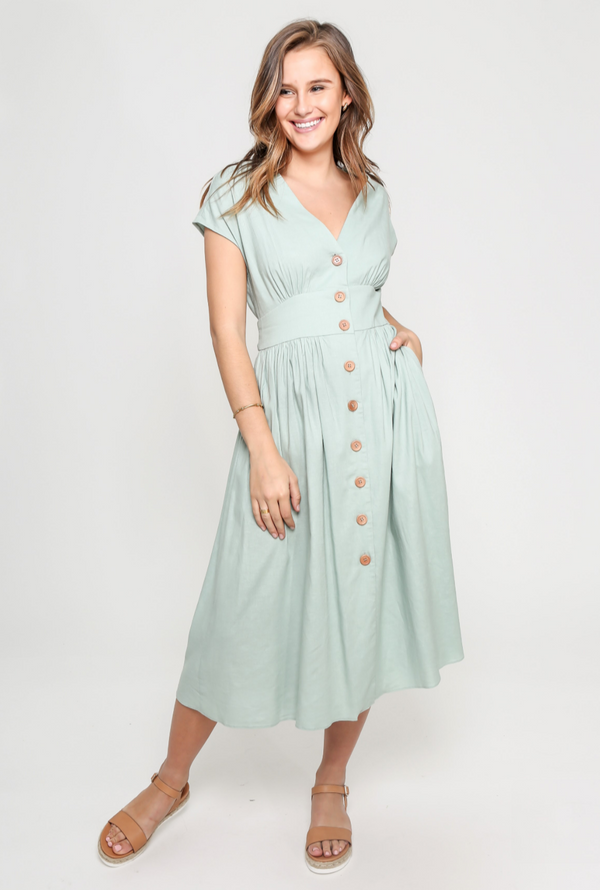 Molly Dress in Mint