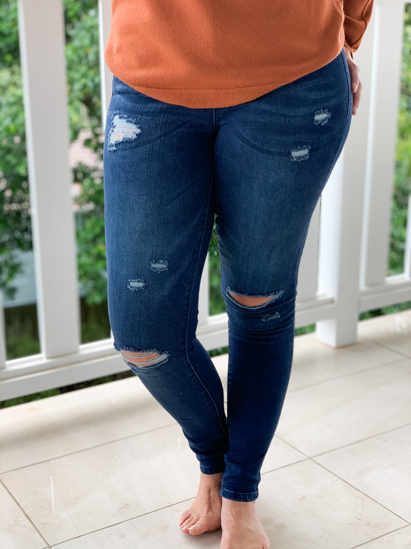 Kylie Ink Jeans with Rips