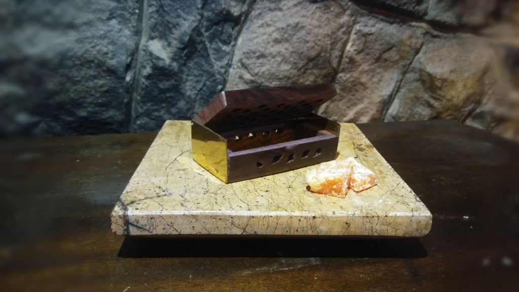 Rosewood Box w/ Resin Incense - Lux Arcana Candle Co.