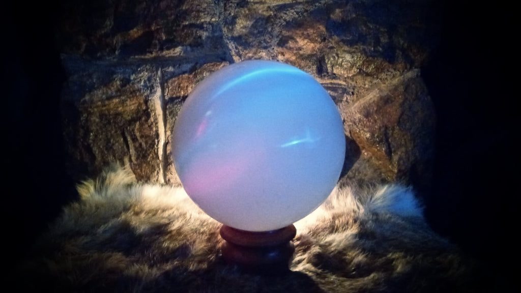Selenite Crystal Ball - Lux Arcana Candle Co.
