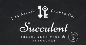 Succulent No.3 - Lux Arcana Candle Co.