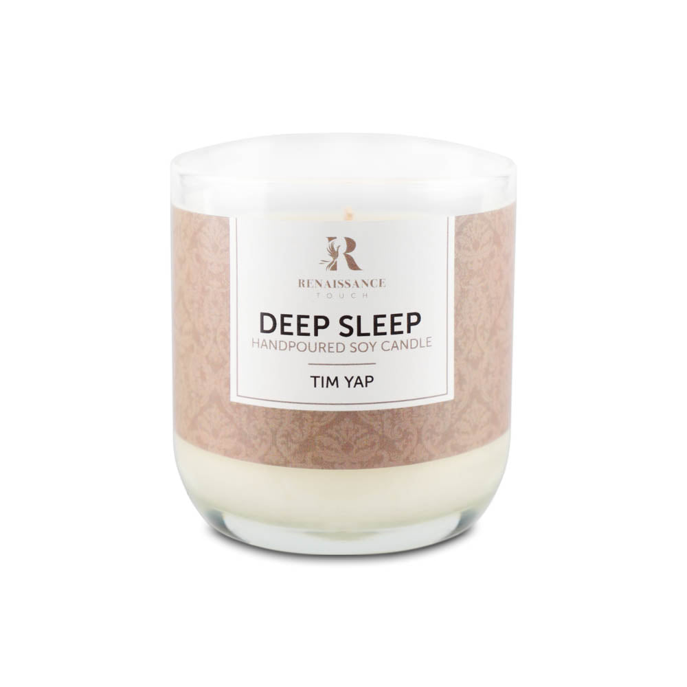 Deep Sleep Lemon Lavender (Hand Poured Soy Candles) - Medium Glass Jar