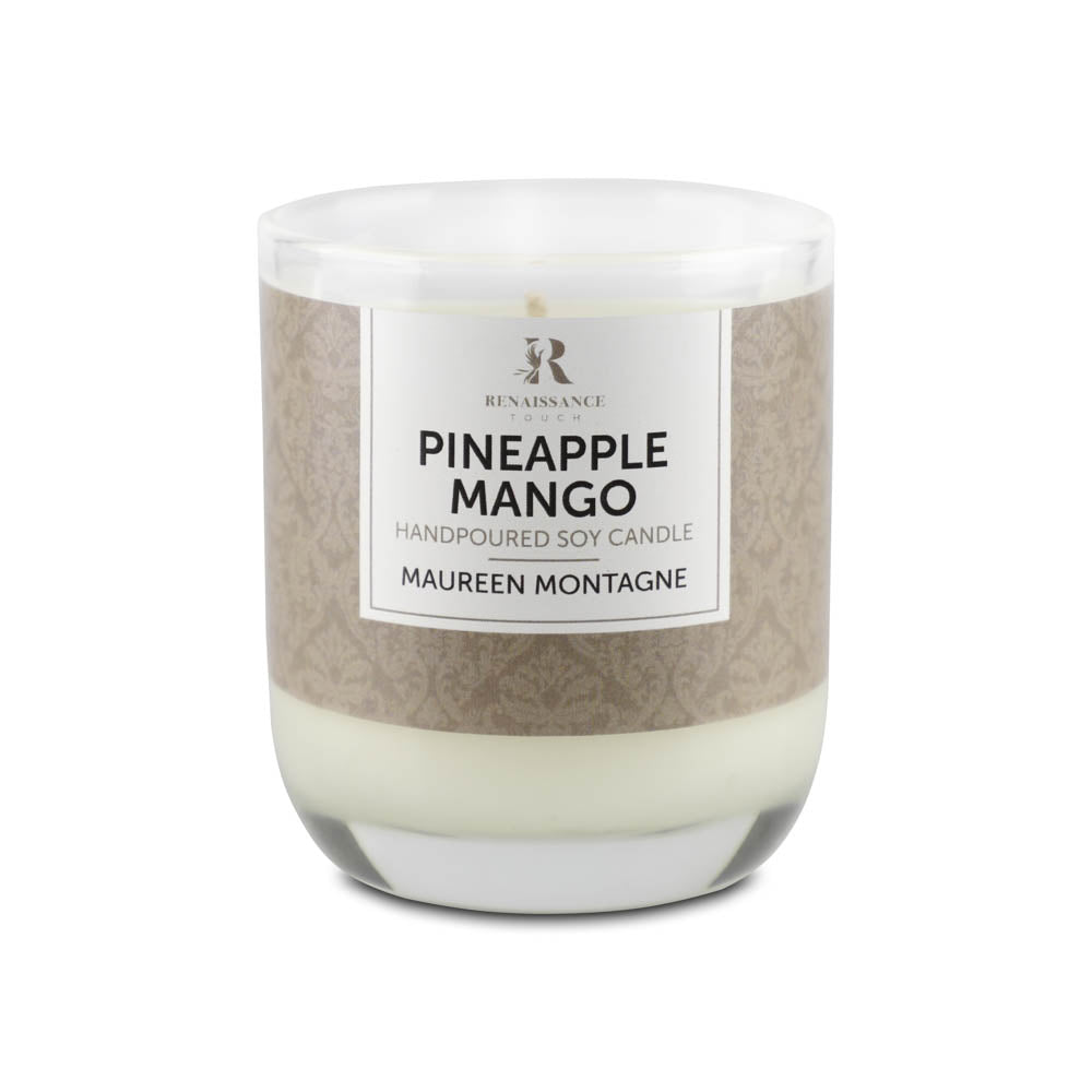 Pineapple Mango (Hand Poured Soy Candles) - Medium Glass Jar