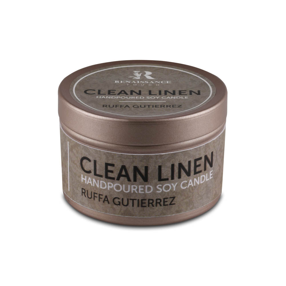 Clean Linen (Hand Poured Soy Candles) - Small Tin Can