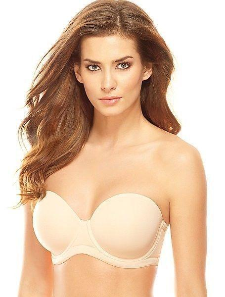 NWOT Wacoal 34H Red Carpet Strapless Convertible Bra 854119 Beige #58817