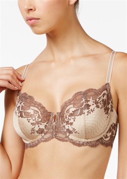 NEW Wacoal 34C Lace Affair Underwire Bra 851256 Beige #64318